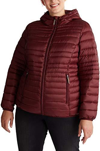 ESPRIT Damen 080EE1G331 Jacke, 600/BORDEAUX RED, 44