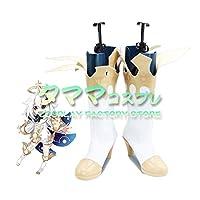 パイモン 原神 Genshin コスプレ 靴 ブーツ コスプレ靴 cosplay オーダーサイズ/スタイル 製作可能 【タママ】(22.5cm)