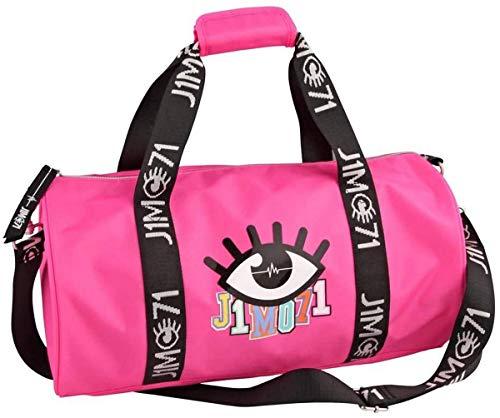 Depesche 10333 - Sporttasche, Lisa und Lena J1MO71, pink, ca. 21 x 42 x 21 cm