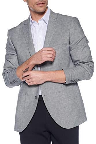 Steffen Klein Heren Linnen Sakko 2-knops sluiting Melange Look Business