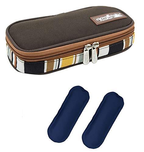 DCCN koeltas diabetici-tas voor medicijnen, thermotas van Oxford-stof en aluminiumfolie, S koffie + 2 koelaccu's, 1