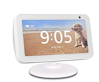 Stand for Echo Show 5, ELPHA Adjustable Stand Mount Accessories Compatible with Amazon Echo Show 5, Magnetic attachment,360 Degree Swivel, Tilt function, Anti-Slip Base,White from ELPHA PRODUCTS COMPANY INC