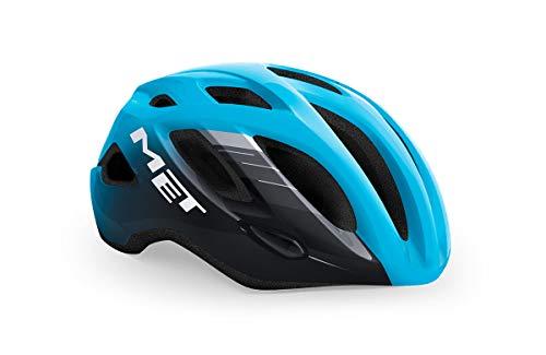 MET Idolo - Casco da bicicletta da corsa, blu e nero, taglia M (52-59 cm)