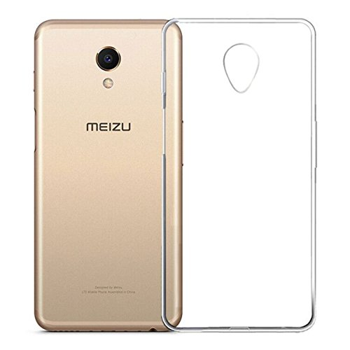 REY Funda Carcasa Gel Transparente para MEIZU M6s, Ultra Fina 0,33mm, Silicona...