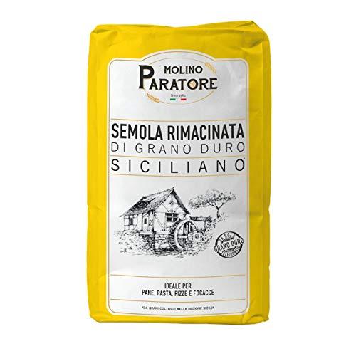 Semola rimacinata di grano duro siciliano - 5 kg - Molino Paratore PIZZA E PANE