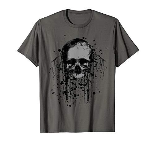 Bleicher Totenkopf Skull Horror Grunge T-Shirt T-Shirt