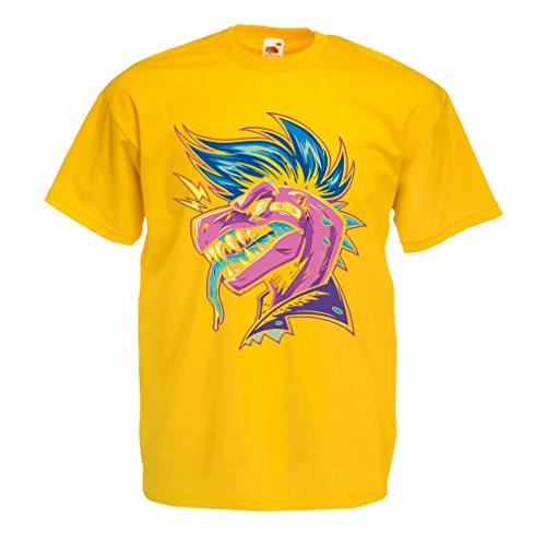lepni.me T-Shirt pour Hommes Punk Rock - Punk n'est Pas Mort, années 1960, 1970, années 80 (Large Jaune Multicolore)