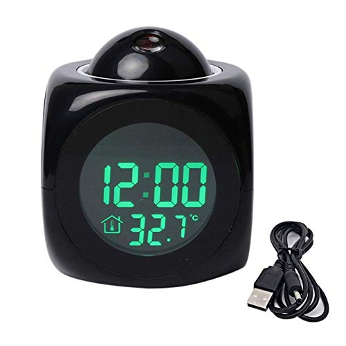 Hengyixing Projecting Alarm Clock Large Display Time Date Temperature Projector Digital Colorful Backlight Table Clock-2