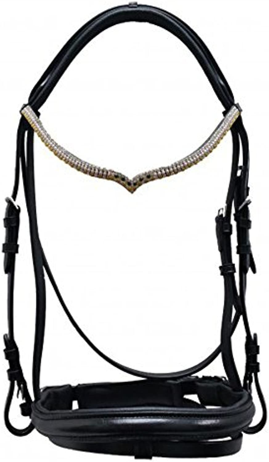 Swedish Snaffle Varimar Leather Black New with Reins