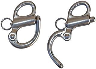 Bimini con Goccia Cam /& Molla Diametro 0,6 cm Hysagtek in Acciaio Inox 316 con Anello 6 perni a sgancio rapido per Barca