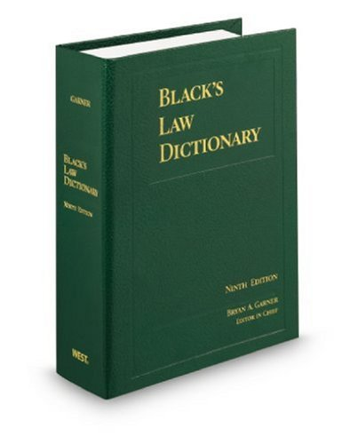 Black's Law Dictionary, Standard Ninth Edition