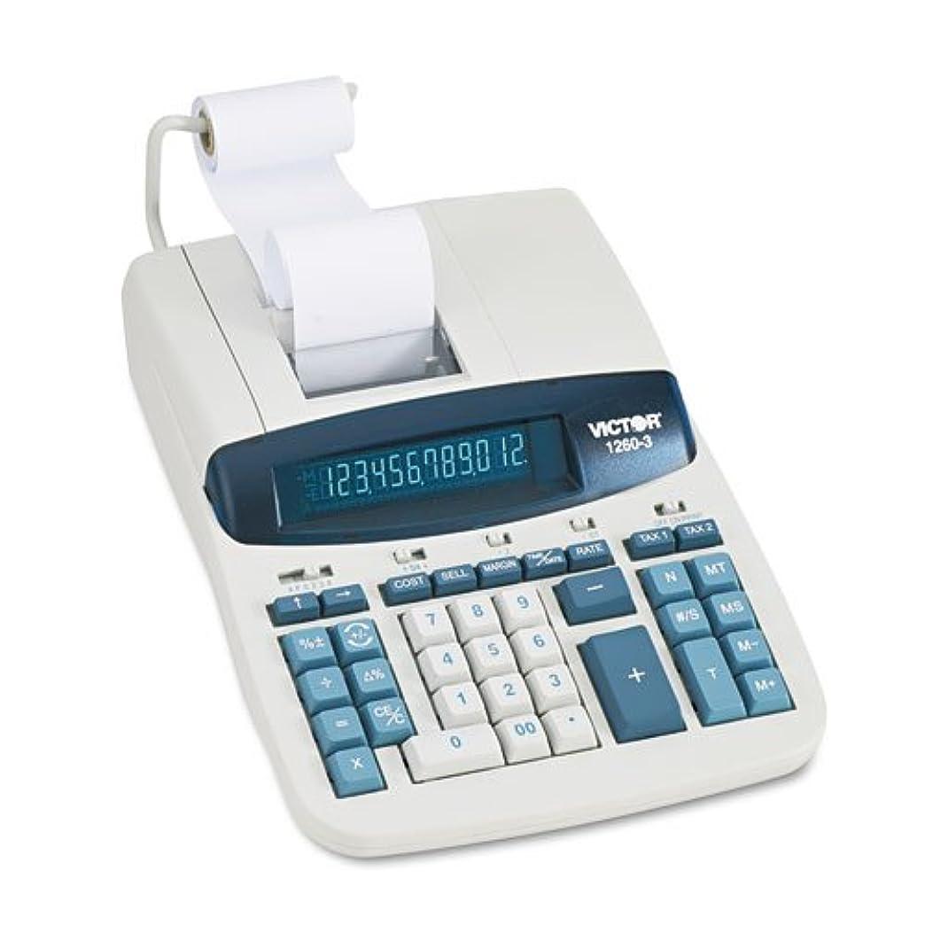持っているマーク適用するVCT12603 - 1260-3 Two-Color Heavy-Duty Printing Calculator by Victor