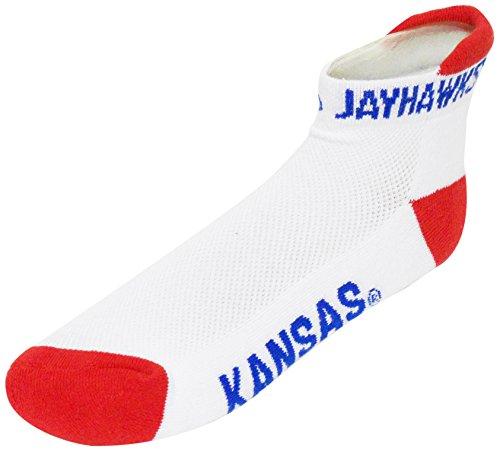 Donegal Bay NCAA Kansas Jayhawks Fersen-/Zehensocken, Jungen, rot, Einheitsgröße