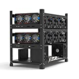 Dastrues Open Mining Rig Frame for 12 GPU Mining Case Rack Motherboard Bracket ETH/ETC/ZEC Ether Accessory Tool 3 Layers