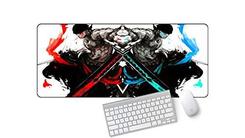 IGZNB Creative One Piece Anime Mauspad Für Erweiterte Spiele Extra Large 700X300X3 Mm Wasserfest Mit Rutschfester Unterseite Für Pc Laptop, E