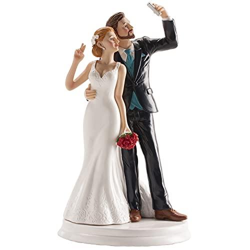 Dekora - Decoracion tartas de boda - Figuras de Novios Selfie 20 cm