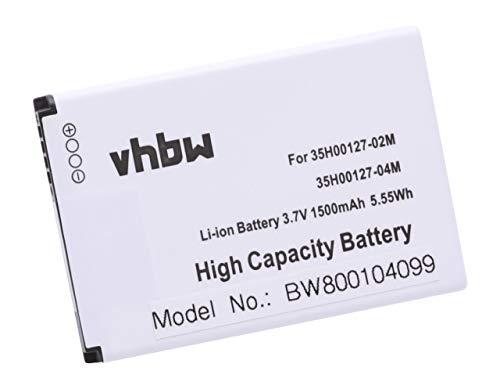 vhbw Batería Compatible con HTC Wildfire, Incredible, A315C, A3333, A6363, A6365, A6388, ADR6225 móvil, Smartphone teléfono (1500mAh, 3,7V, Li-Ion)