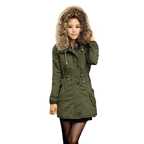 Discover Bargain Pongfunsy Womens Jacket Women Winter Warm Hooded Casual Long Coat Oversized Outwear...