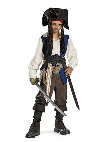 Pirates of the Caribbean - Captain Jack Sparrow Child Costume Size M(7-8)