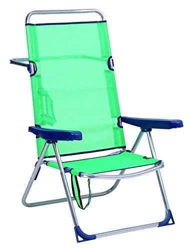Alco – Chaise Lit Plage en Aluminium Dossier Haut de Couleur Bleu Turquoise (30 1 – 670 AZ)