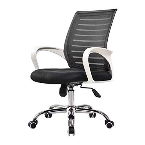 DJDLLZY - Sedia da ufficio per computer da gioco, regolabile, ergonomica, supporto lombare, con ruote, comodo sedile da corsa in rete