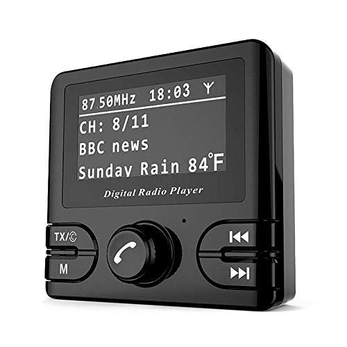 Transmetteur Bluetooth Fm pour voiture, kit mains libres Voltmètre mains libres pour adaptateur audio et récepteur, Lecteur MP3, radio numérique portable avec réglage mini numérique