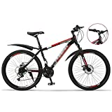 T-Day Bicicleta Montaña 26 Ruedas Bici De Montaña Daul Disc Disc Frenos De 24 Velocidades Mes De La Bicicleta MTB MTB Adecuado para Hombres Y Mujeres Entusiastas De Ciclismo(Size:24 Speed,Color:Rojo)