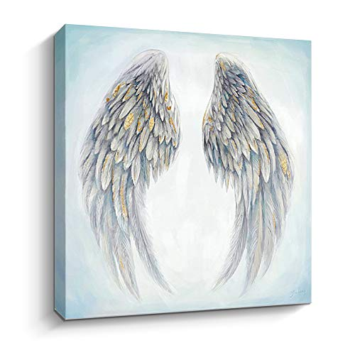 Artinme Canvas Prints Angel Wings Canvas Wall Art Contemporary Art Painting Framed Artwork Home Decoration for Living Room & Bathroom (Angel wings, 12 x 12')