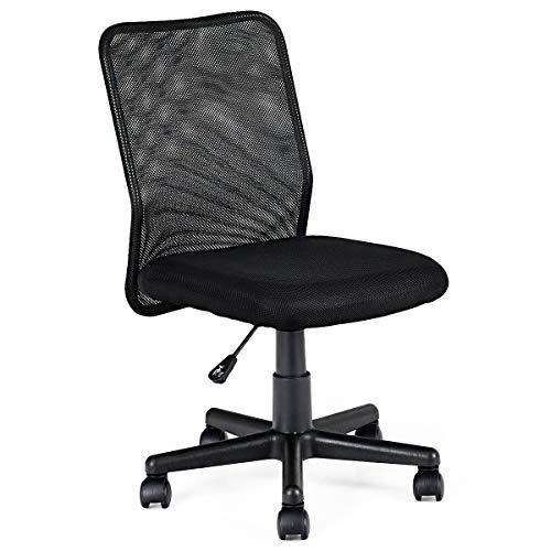 Giantex Mid-Back Mesh Office Chair Armless Ergonomic Mesh Chair Swivel Computer Office Desk Task Chair