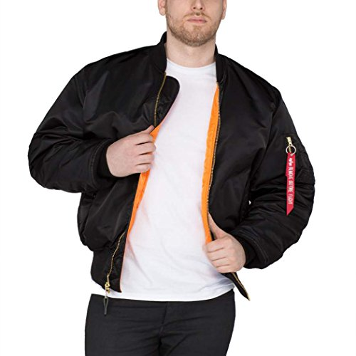 ALPHA INDUSTRIES - MA-1 Bomberjacke (M, Black)