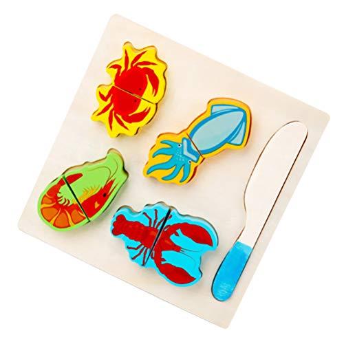 TOYANDONA Cortar Juegos de Simulación Comida Juguetes Cocina para Niños Juego de Juegos Juguete de Picnic para Niños Dulces de Simulación Comida de Juego de Mariscos Juego de Vajilla para