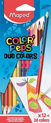 Maped M829600 - Buntstifte Color Peps Duo,24 farben, mehrfarbig, DUO x12
