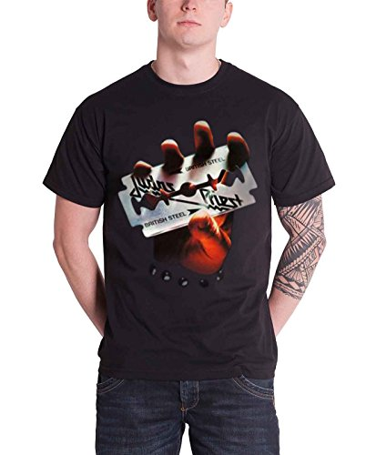 Rock Off - T-shirt Homme Judas Priest British Steel - Noir (Black) - Large