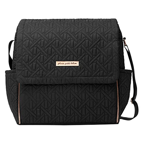 Petunia Pickle Bottom Boxy Backpack | Diaper Bag | Diaper Bag Backpack for Parents | Top-Selling Stylish Baby Bag | Sophisticated Backpack for On The Go Moms | Moonless Rose Embossed