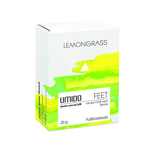 UMIDO Fußbadesalz 20 g Lemongrass - Badezusatz - Fußbad - Fußpflege bei Fußpilz - Nagelpilz - Fußgeruch - 1 x Badesalz 20 g (2-FPF)