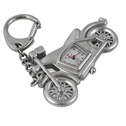 PARK LANE Silberfarbene Motorrad Schlüsselanhänger Uhr PLKR09