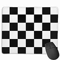 マウスパッド ブロックチェック Mousepad ミニ 小さい おしゃれ 耐久性が良 滑り止めゴム底 表面 防水 コンピューターオフィス ゲーミング 25 x 30cm