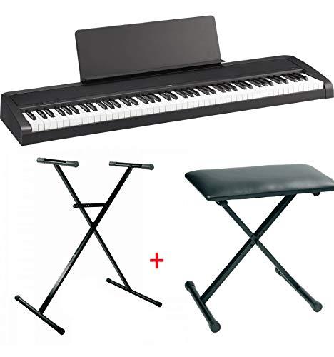 Pack Korg B2 noir - Piano numérique 88 notes + Stand en X + banquette