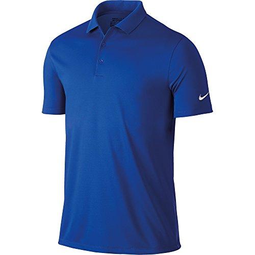 Nike Victory Solid, Camiseta Polo de Golf para Hombre, Multicolor (Game Royal/White), M