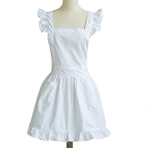 butterme Schöne Retro algodón Mujer delantales para
