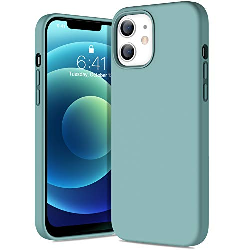 Miracase iPhone12 ケース iPhone12 Pro ケース 6.1インチ 対応 アイフォン12/ アイフォン12 Pro シリコンケース iPhone12 Pro シリコン ケース iPhone12 Pro 耐衝撃 カバー 衝撃吸収 指紋防止 薄型 ケース 軽量 ワイヤレス充電対応 青