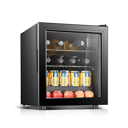 Gabinete pequeño para vinos,Sistema de termostato y Puerta de Vidrio para refrigerador silencioso de una Sola Zona Independiente para el hogar y la Oficina