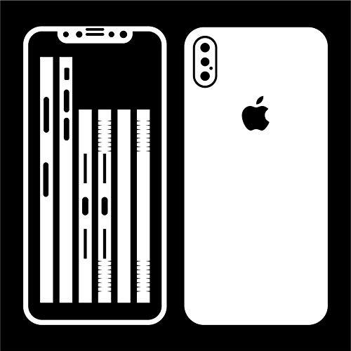 Leuchtkäfer Werbetechnik iPhone X Weiss WEIß MATT Folie Skin ZUM AUFKLEBEN Bumper case Cover schutzhülle i Phone