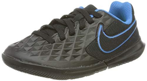 Nike JR Legend 8 Club IC, Scarpe da Calcio, Black/Black-lt Photo Blue-Cyber, 28 EU