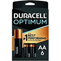 6-Pack Duracell Optimum AA Alkaline Batteries