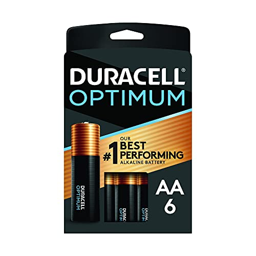 Duracell Optimum AA Batteries | 6 Count Pack | Lasting Power Double A Battery | Alkaline AA Battery Ideal for Household and Office Devices | Resealable Package for Storage