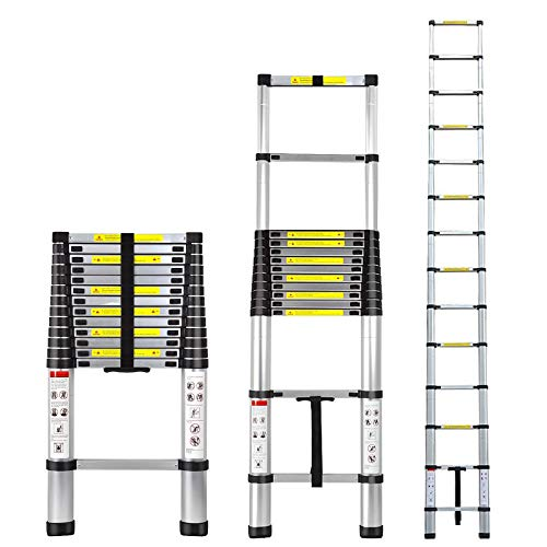 Telescoping Extension Ladder Aluminum Telescopic...