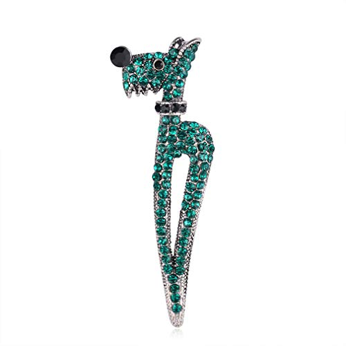 YAZILIND Vintage Dog Brooches Animal Rhinestone Brooch Sweater Suit Accessories Pins Gifts Jewelry