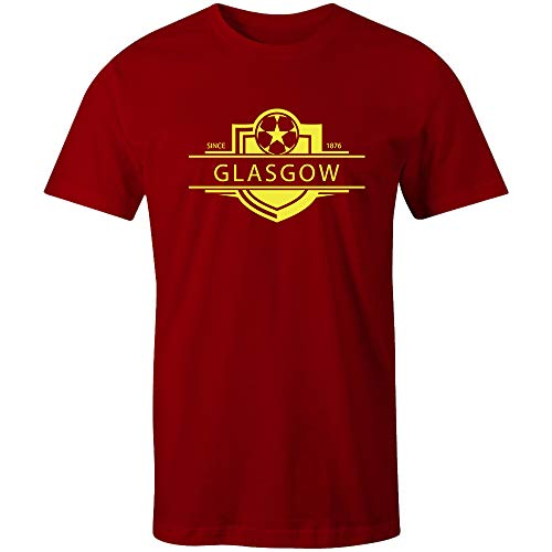 Sporting Empire Partick Thistle 1876 Established Badge Football T-Shirt-X-Large Red