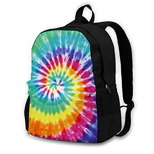 Tie Dye - Travel Laptop Backpack with Lock - 15 Inch Computer Business Backpacks for Women Men - College School Student Bookbag - Casual Outdoor Daypack - Christmas Gift